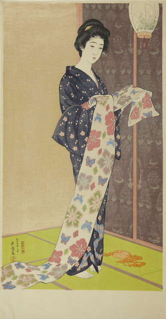 , 'Young Woman in a Summer Kimono,' 1920, Ronin Gallery