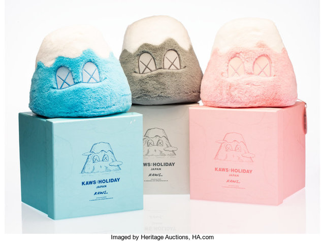 KAWS, 'Mount Fuji: Holiday Japan, set of three', 2019, Other, Polyester plush, Heritage Auctions