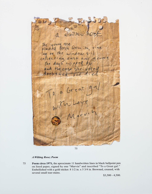 , 'Auction Page (Poem For a Great Gal),' 2013, Rosamund Felsen Gallery