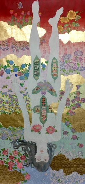 KAORUKO, 'NYOTAIMORI', 2018, Painting, Acrylic, gold leaf and rice paper on canvas, Corridor Contemporary