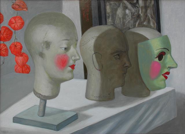 , 'Köpfe - Masken - Lampionblume,' 2015, DIE GALERIE