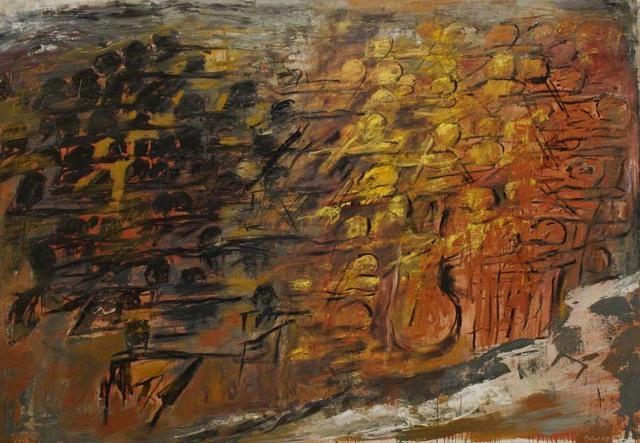 Miklos Bokor, 'Confrontation', 2008, Painting, Oil on canvas, Ditesheim & Maffei Fine Art