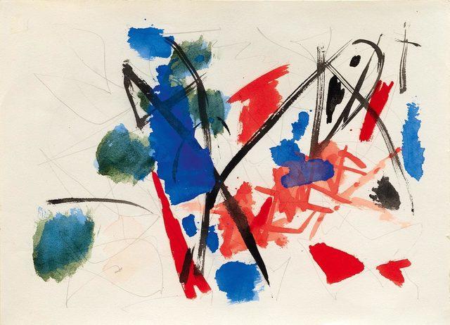 Ernst Wilhelm Nay, 'Untitled (Aquarellskizze)', 1953, Koller Auctions