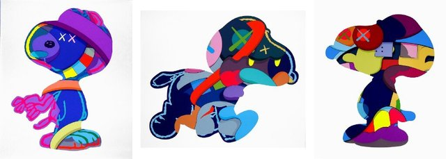 KAWS, 'Snoopy Set of 3 prints - No One's Home; Stay Steady; The Things that Comfort', 2015, Pop Fine Art