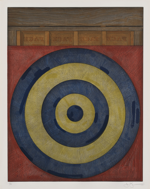 Jasper Johns, 'Target with Four Faces (U.L.A.E. 203)', 1979, Print, Etching and aquatint in colors, on Rives BFK paper, with full margins., Phillips
