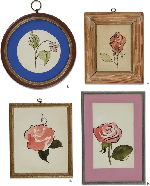 Andy Warhol, 'Untitled; Rose; Untitled; Untitled [Four Works]', circa 1955, Sotheby's