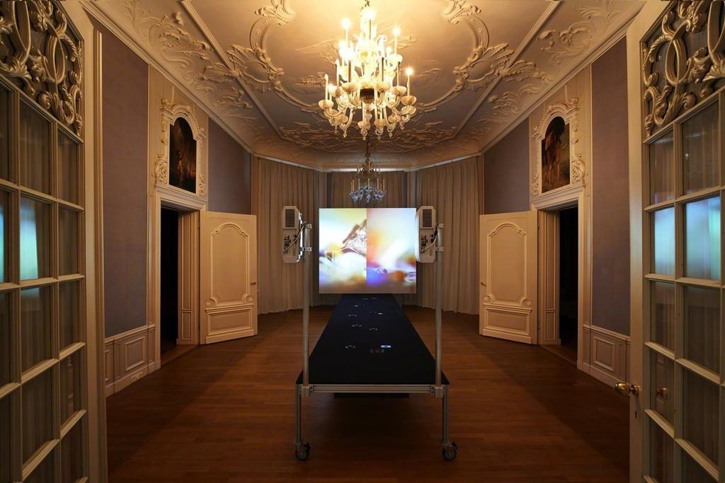 Gary Hill, Choir Box, Video/sound installation, 2015