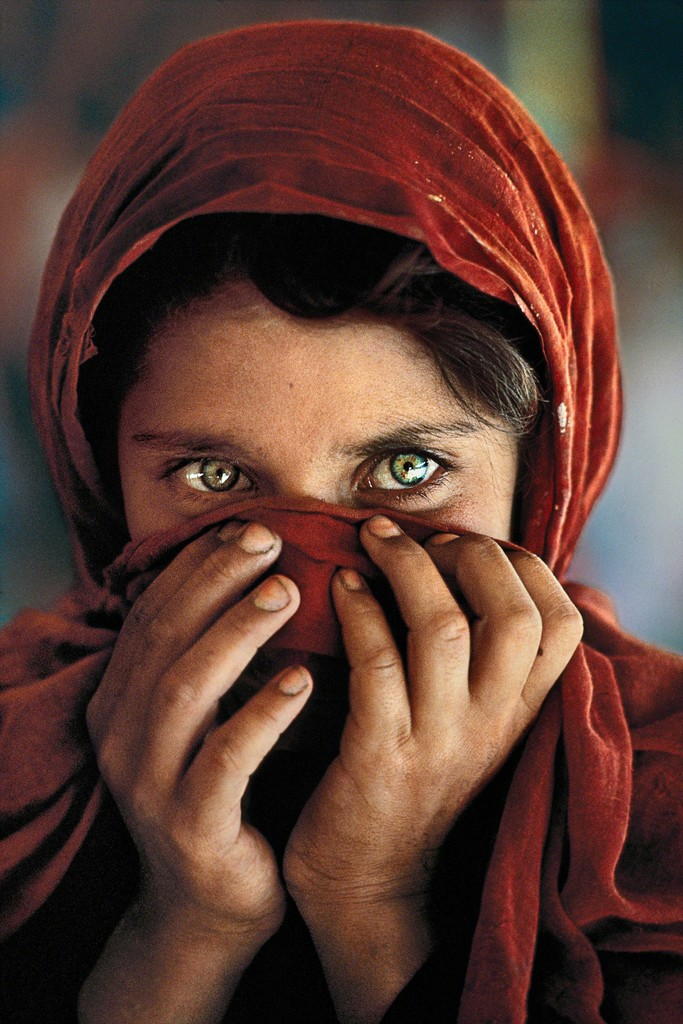 Steve McCurry, 'Afghan girl hiding face,' 1984, GALLERY FIFTY ONE
