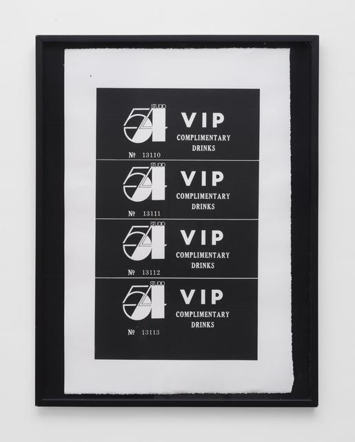 Andy Warhol, 'Studio 54 Complimentary Drink Invitation', 1978, Gavlak