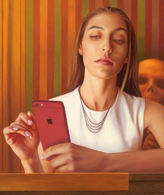 Alex Gross, 'Mirron (after Tooker)', 2017, Laurent Marthaler Contemporary