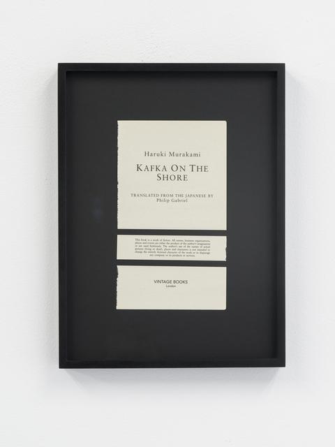 , 'Disclaimers (Haruki Murakami: Kafka on the Shore),' , Galeri NON