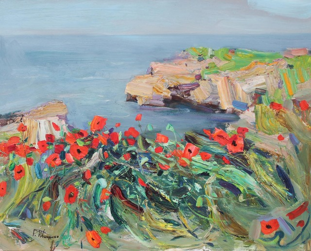 , 'Poppies,' 2017, Paul Scott Gallery & galleryrussia.com