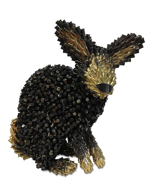 , 'Black Rabbit, Gold Ears & Tail,' 2017, Cavalier Ebanks Galleries