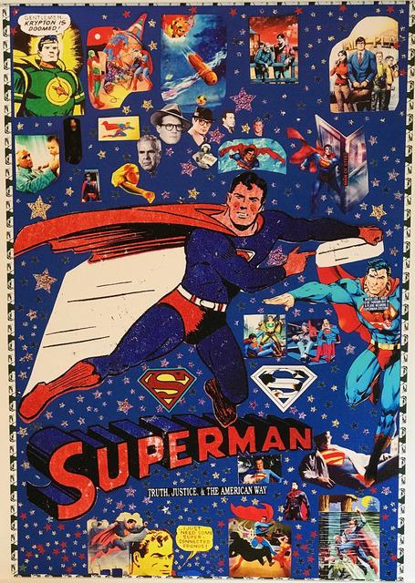 DJ Leon, 'Superman Collage', 2018, Madelyn Jordon Fine Art