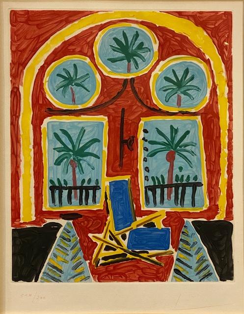 Pablo Picasso, 'La Fenêtre de L'Atelier à la Californie ', 1959, Print, Original color aquatint on BFK Rives cream wove paper., Off The Wall Gallery