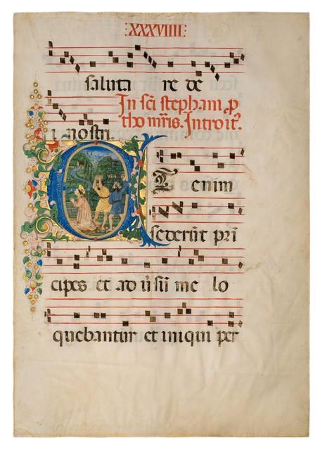 , 'Lapidation of Saint Stephen,' ca. 1470, Dr. Jörn Günther Rare Books