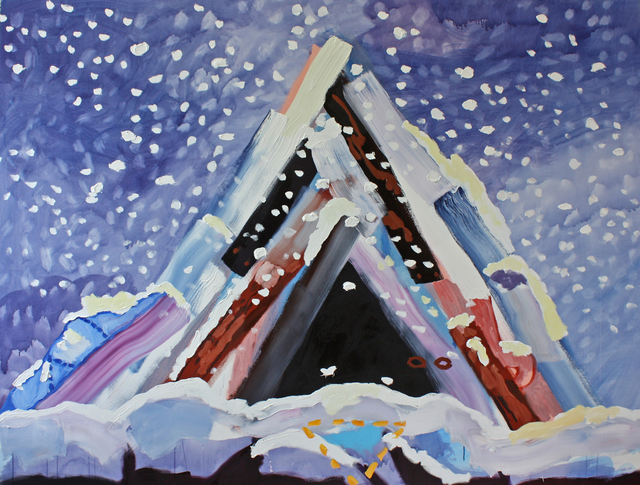 , 'Big Teepee in the Snow (Pretend),' 2015, G. Gibson Gallery