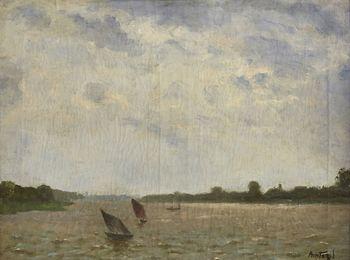 Barques sur l'Escaut (Boats on the Scheldt River)