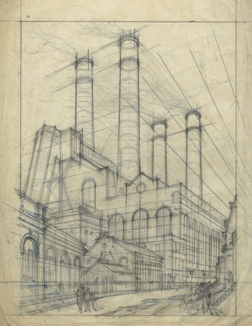 , 'Lots Road Power Station,' ca. 1925, Redfern Gallery Ltd.