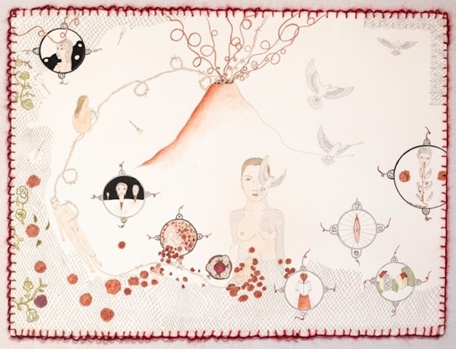 , 'Umbilical Cord Volcano ,' 2018, Front Room Gallery