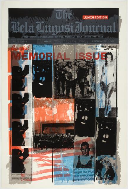 Joe Tilson, 'The Bela Lugosi Journal', 1969, Marlborough Graphics