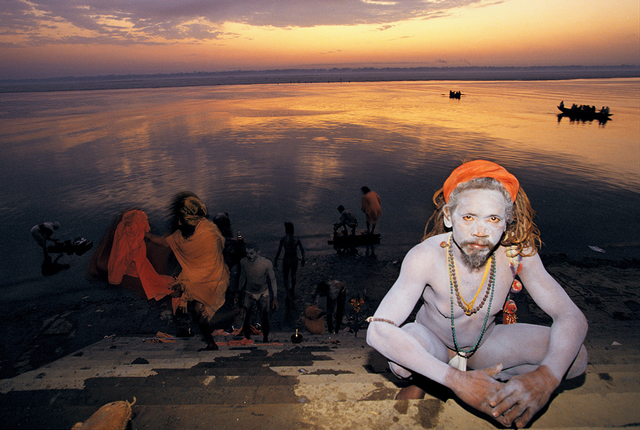 , 'Bathing in the Ganges at Dawn, Varanasi, India,' 2000, Octavia Art Gallery
