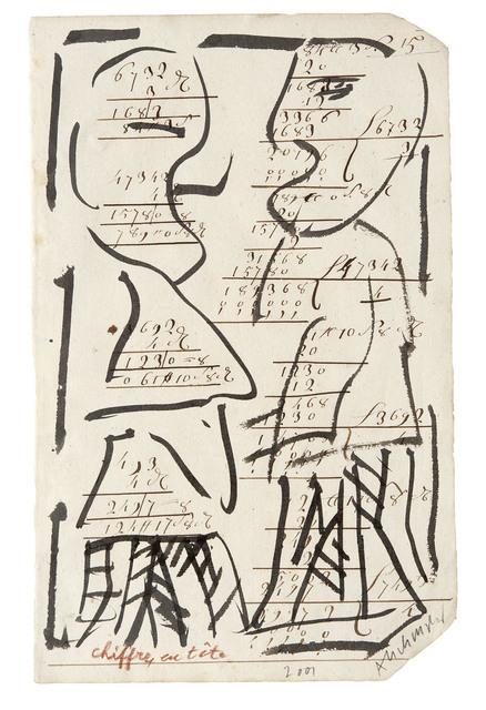 , 'Chiffres en tête,' 2001, Galerie Lelong & Co.