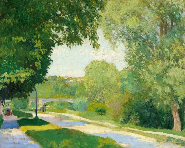 , 'Sommertag an der Seine (Paris),' 1908, Galerie Herold