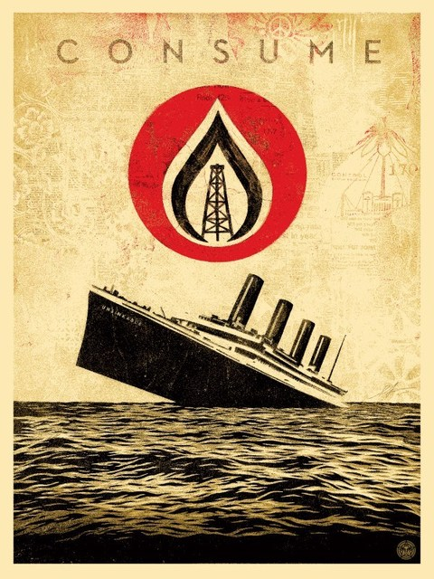 Shepard Fairey (OBEY), 'Unsinkable Consumption', 2015, Rudolf Budja Gallery