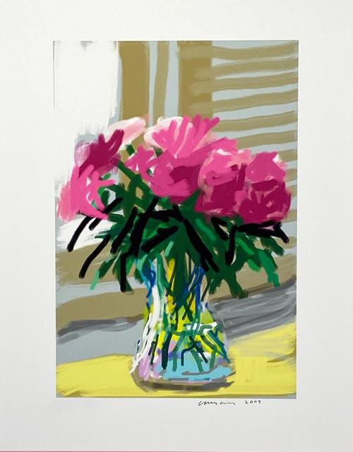 David Hockney, 'iPhone drawing 'No. 535', 28th June 2009', 2019, Print, 8-color inkjet print on cotton-fiber, David Benrimon Fine Art