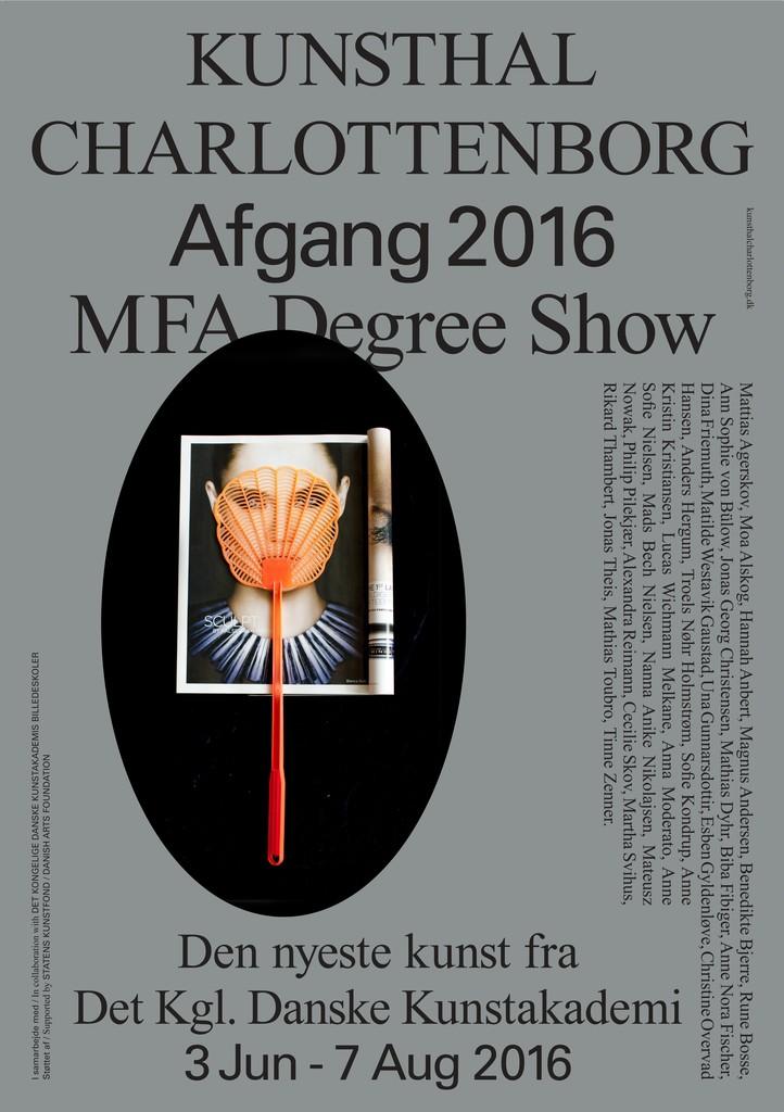 Afgang 2016 poster Design by Wrong Studio Artwork by Biba Fibiger