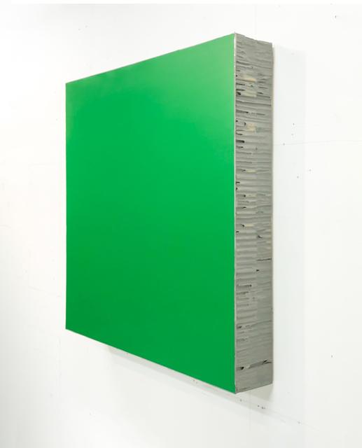 Noriyuki Haraguchi 原口 典之, 'Green Square', 2019, Installation, Polyurethane, paper honeycomb, acrylic paint, Asia Art Center