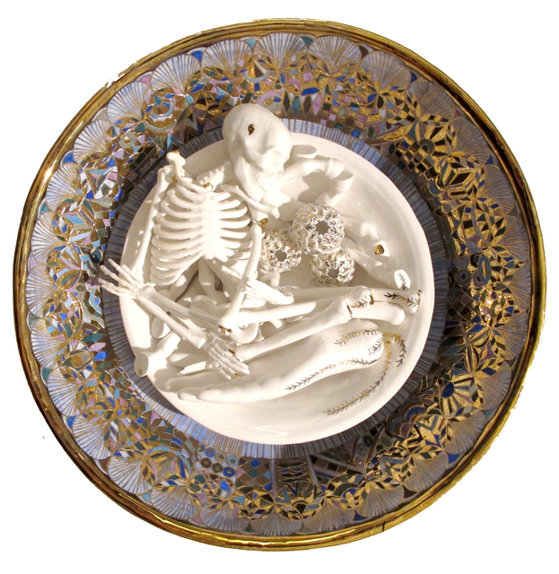 , 'Skull and hand on plate,' 2016, DECORAZONgallery