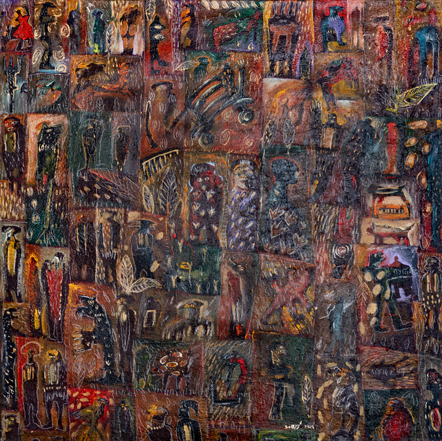 Soly Cissé, 'No title ', 2001, Painting, Mixed media (oil) on canvas, OH GALLERY