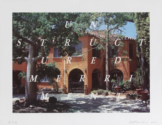 Ed Ruscha, 'Unstructured Merriment', 2016, Gagosian
