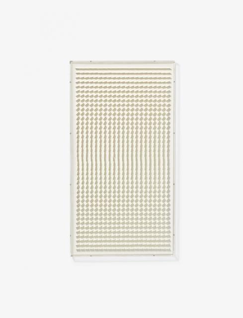 Hartmut Böhm, 'Quadratrelief 114 (From: Visuell veränderliche Struktur)', 1966, Mixed Media, White acrylic glass in acrylic glass frame, Van Ham
