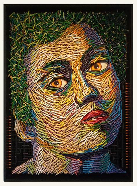 , 'Green Hair Portrait,' 2017, LGM Arte Internacional