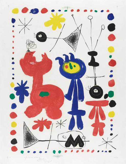 Joan Miró, 'Personnage Et Oiseau (Mourlot 68)', 1948, Doyle