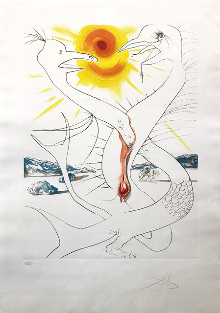 Salvador Dalí, 'THE CADUSEUS OF MARS NOURISHED BY THE BALL OF FIRE OF JUPITER', 1974, Gallery Art