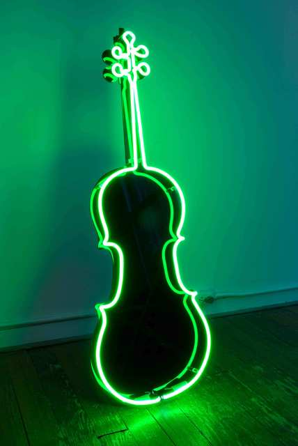 , 'Neon Cello,' 1989, Grey Art Gallery