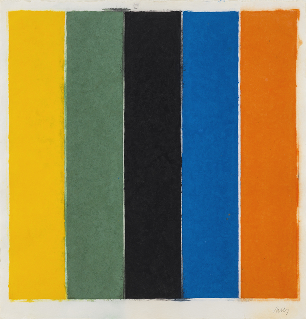 , 'Colored Paper Image XIII (Yellow/Green/Black/Blue),' 1976, Susan Sheehan Gallery