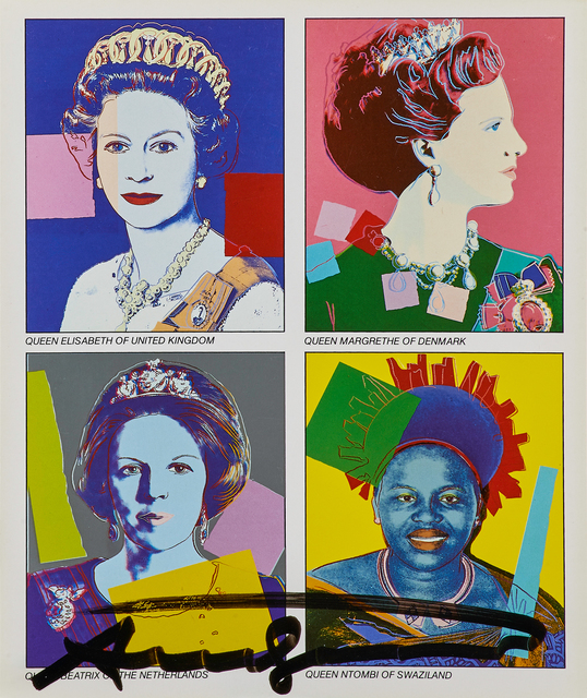 Andy Warhol, 'Reigning Queens', 1985, Print, Offset lithograph in colors (invitation), Rago/Wright