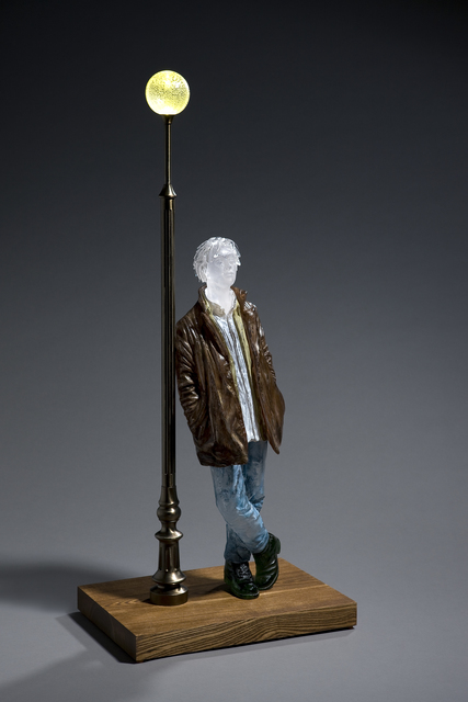 , 'Man Leaning Against Lamp Post (Miniature),' 2017, Gallery Sklo