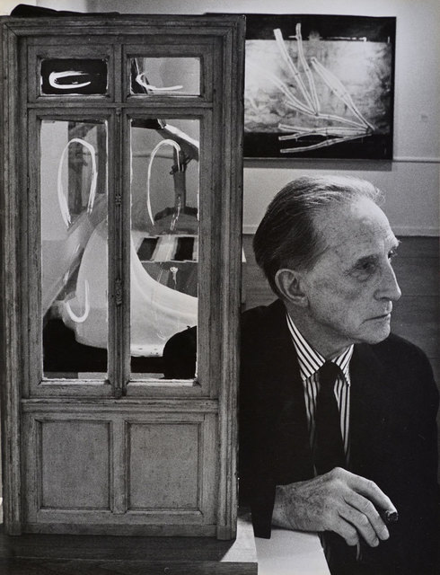 , 'Duchamp with Door Sculpture, Duchamp Retrospective, Pasadena Art Museum,' 1963, Robert Berman Gallery