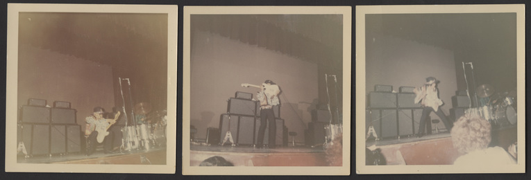 Group of Three Jimi Hendrix Original Concert Snapshot Photographs