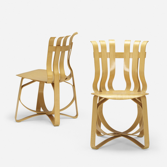 Frank Gehry, 'Hat Trick chairs, pair', 1999, Wright