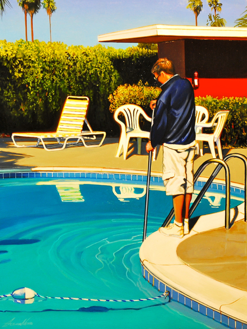 , 'Pool Man,' 2017, Sue Greenwood Fine Art