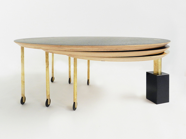 , 'Extendable Rolling Coffee Table Model SFG13, Limited Edition of Five,' 2014, DEMOSMOBILIA