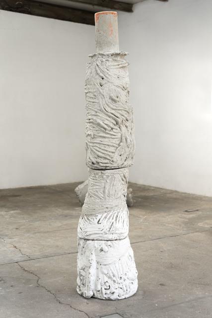 Mischa Sanders & Philipp Putzer, 'Betonadonna ', 2021, Sculpture, Concrete, clay, plastic pipe, OH GALLERY