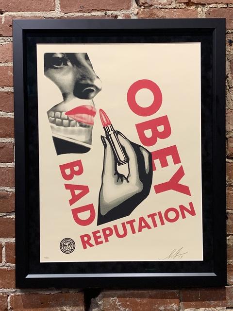 Shepard Fairey, 'Bad Reputation (Cream)', 600, Mason-Nordgauer Fine Arts Gallery